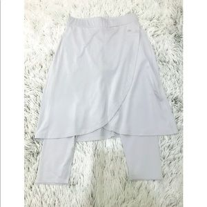 Snoga Light Grey Faux Wrap Skirt with Leggings
